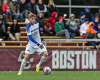 Newton, Massachusetts - October 25, 2016: NCAA Division I. In overtime, University of Massachusetts - Lowell (white) defeated Boston College (maroon), 3-2, at Newton Campus Soccer Field.