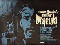 BNPS.co.uk (01202 558833)<br /> Pic: Cottees/BNPS<br /> <br /> Bram Stoker's Count Dracula 1970 film poster, directed by Jesus Franco and starring Christopher Lee.<br /> <br /> A horror fan has sold his chilling collection of cult movie posters - for a shocking &pound;25,000.<br /> <br /> The unnamed film buff collected over 100 posters that advertised scary movies like Dracula, Frankenstein, The Wicker Man and the Hammer Horror franchise.<br /> <br /> He has now sold them at Cottees Auctions of Wareham, Dorset, with one rare Dracula poster fetching over &pound;5,000 alone.