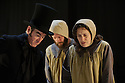 London, UK. 16.09.2015. JANE EYRE, a co-production with the Bristol Old Vic, directed by Sally Cookson, opens at the National Theatre. Picture shows: Craig Edwards (Mr Brocklehurst), Madeleine Worrall (Jane Eyre). Photograph © Jane Hobson.