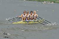 Amsterdam, NETHERLANDSS, GBR M4X. Bow. Oliver LEE, Stewart INNES, Jack HOCKLEY and John COLLINS.  2011 FISA U23 World Rowing Championships, {dow}, {date} [Mandatory credit:  Intersport Images].