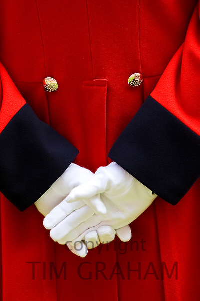 Chelsea Pensioner at Founder's Day Parade, London, United Kingdom.