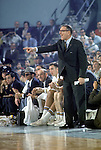 22 MAR 1968:  UCLA head coach John Wooden during the NCAA Final Four basketball championship semifinal game against Houston in Los Angeles at the Sports Arena. UCLA defeated houston 101-69 to meet North Carolina in the final game. Photo Copyright Rich Clarkson