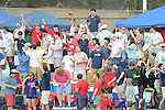 Ole Miss students cheer in the 10th inning vs. Wright State at Oxford University Stadium in Oxford, Miss. on Saturday, February 19, 2011. Ole Miss won 5-4 in 10 innings to improve to 2-0 on the season.