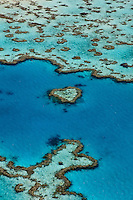 QZ0428-D. Aerial view of Heart Reef, Whitsunday Islands. Australia, Great Barrier Reef, Pacific Ocean.<br /> Photo Copyright &copy; Brandon Cole. All rights reserved worldwide.  www.brandoncole.com