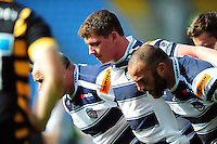 Ross Graham of Yorkshire Carnegie prepares to scrummage. Pre-season friendly match, between Wasps and Yorkshire Carnegie on August 21, 2016 at the Ricoh Arena in Coventry, England. Photo by: Patrick Khachfe / JMP