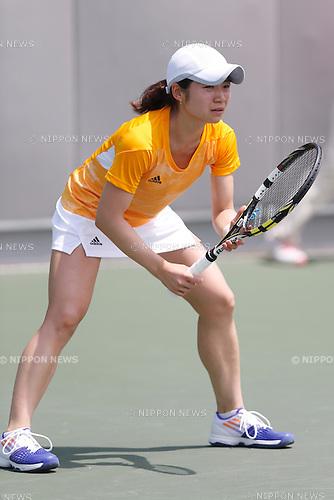 Aiko Yoshitomi (JPN), <br /> JULY 4, 2015 - Tennis : <br /> The 28th Summer Universiade 2015 Gwangju Women's Singles Round 1 at Jinwol International Tennis Court in Gwangju, South Korea. (Photo by Sho Tamura/AFLO SPORT)