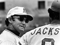 A's manager Alvin Dark (1974 copyright  Ron Riesterer).