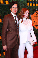 PACIFIC PALISADES, CA, USA - OCTOBER 11: Geoffrey Arend, Christina Hendricks arrive at the 5th Annual Veuve Clicquot Polo Classic held at Will Rogers State Historic Park on October 11, 2014 in Pacific Palisades, California, United States. (Photo by Xavier Collin/Celebrity Monitor)
