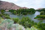Canyon Road from Yakima to Ellensburg, Washington follows the Yakima River, a popular place to fly fish.