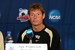 13 December 2007: Wake Forest head coach Jay Vidovich. The Wake Forest University Demon Deacons held a press conference at SAS Stadium in Cary, North Carolina one day before playing in a NCAA Division I Mens College Cup semifinal game.