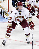 Jimmy Hayes (BC - 10) - The Boston College Eagles defeated the visiting University of Toronto Varsity Blues 8-0 in an exhibition game on Sunday afternoon, October 3, 2010, at Conte Forum in Chestnut Hill, MA.