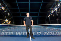 O2 Arena London Barclays ATP World Tour Finals 2011 22/11/2011.Janko Tipsarevic (SRB) Group A match.Photo: Mike Frey Fotosports International / AMN.