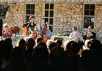 San Antonio Mayor Emeritus and president of the San Antonio Parks Foundation Lila Cockrell speaks during the grand re-opening of the Jingu House, Saturday, Oct. 22, 2011, at the Japanese Tea Garden in San Antonio, Texas, USA. (Darren Abate/pressphotointl.com)