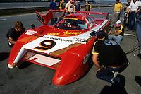 DAYTONA BEACH, FL - JANUARY 31: Bobby Rahal sits in the March 82G 1/Chevrolet during practice for the 24 Hours of Daytona on January 31, 1982, at Daytona International Speedway in Daytona Beach, Florida.