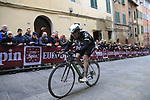 Scott Thwaites (GBR) Team Dimension Data on the final brutal climb of Via Santa Caterina in Siena during the 2017 Strade Bianche running 175km from Siena to Siena, Tuscany, Italy 4th March 2017.<br /> Picture: Eoin Clarke | Newsfile<br /> <br /> <br /> All photos usage must carry mandatory copyright credit (&copy; Newsfile | Eoin Clarke)