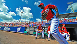 12 March 2012: Washington Nationals outfielder Roger Bernadina takes to the field at the start of a Spring Training game against the St. Louis Cardinals at Space Coast Stadium in Viera, Florida. The Nationals defeated the Cardinals 8-4 in Grapefruit League play. Mandatory Credit: Ed Wolfstein Photo