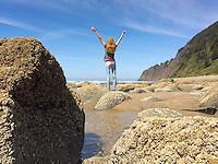 tide pooling at Manzanita Beach, near Manzanita Oregon