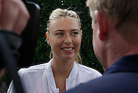 Maria Sharapova Speaks with members of the media during the 2015 U.S. Open tournament kids day in New York City 08/29/2015. Kena Betancur/VIEWpress