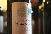 Ch Patache d'Aux, Cru Bourgeois, same owner. Chateau Liversan, Domaines Lapalu, Haut Medoc, Bordeaux, France