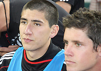 Andrew Quinn #48 and Devon Mctavish 18 of D.C. United during an MLS match against the New England Revolution on April 3 2010, at RFK Stadium in Washington D.C.
