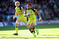 Telusa Veainu of Leicester Tigers goes on the attack. Aviva Premiership match, between Northampton Saints and Leicester Tigers on March 25, 2017 at Franklin's Gardens in Northampton, England. Photo by: Patrick Khachfe / JMP