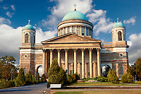 Exterior of the Neo Classical Esztergom Basilica, Cathedral ( Esztergomi Bazilika ), Hungary.