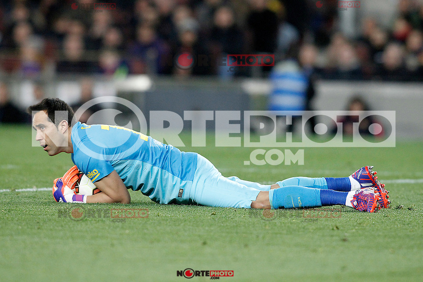 FC Barcelona's Claudio Bravo during La Liga match.March 22,2015. (ALTERPHOTOS/Acero) /NORTEphoto.com