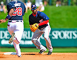 12 March 2009: Washington Nationals' infielder Freddie Bynum in action during a Spring Training game against the Atlanta Braves at Disney's Wide World of Sports in Orlando, Florida. The Braves defeated the Nationals 6-2 in the Grapefruit League matchup. Mandatory Photo Credit: Ed Wolfstein Photo