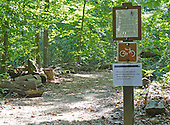 Sign at the entrance to a hiking path in Rock Creek Park in Chevy Chase, Maryland showing it is closed on Tuesday, October 1, 2013. The National Park Service has closed all of its facilities due to Congress not passing a funding bill by midnight September 30.  The road, which runs through the park, is a major thoroughfare for motor vehicles and bicycles between the Maryland suburbs and downtown Washington, D.C.<br /> Credit: Ron Sachs / CNP<br /> (RESTRICTION: NO New York or New Jersey Newspapers or newspapers within a 75 mile radius of New York City)