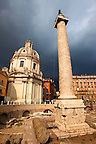 Columns of Emperors Trajan's Forum and Trajans Column . Rome