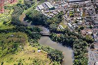 An aerial view of Kaukonahua Stream, Wahiawa, O'ahu.