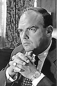 Portrait of John D. Ehrlichman taken in Washington, D.C. on May 13, 1969.  He served as Domestic Affairs Advisor to United States President Richard M. Nixon until his forced resignation on April 30, 1973 for his involvement in the Watergate Affair.  Ehrlichman served 18 months in prison for his role in Watergate.  He was born John Daniel Ehrlichman on March 20, 1925 in Tacoma, Washington.  He died of complications from diabetes at his home in Atlanta, Georgia on February 14, 1999..Credit: White House / CNP