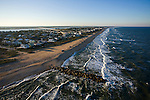 Southern tip of Vilano Beach, north of St. Augustine Inlet - helicopter aerial