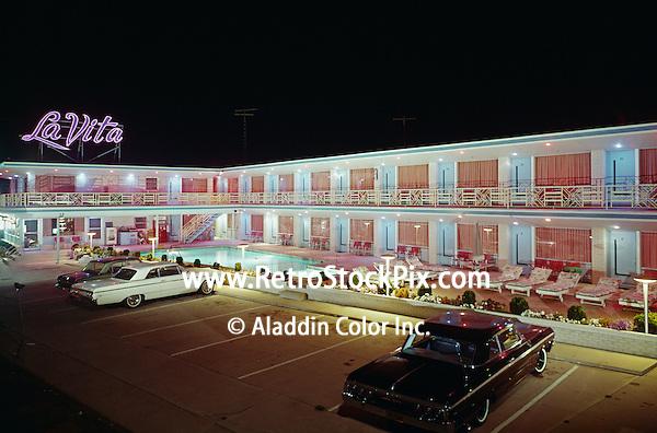 La Vita Motel, Wildwood, NJ. Large Neon Sign and room lights