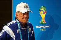 Argentina manager Alejandro Sabella during the press conference
