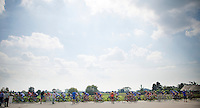 peloton over the cobbles<br /> <br /> 99th (open) Flemish Championships 2014<br /> (&quot;Kampioenschap van Vlaanderen&quot;)