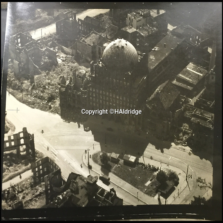 BNPS.co.uk (01202 558833)<br /> Pic: HAldridge/BNPS<br /> <br /> An aerial image taken by the Spitfire pilot.<br /> <br /> A Spitfire pilot's own snaps of some of the Nazi's most notorious murderers after they were detained for their horrific war crimes have been found in an old suitcase.<br /> <br /> RAF Officer Keith Parfitt took his own photos of the monsters, who included Franz Hossler, a commander at Aushwitz concentration camp and then deputy commandant of Burgen-Belsen, and Irma Grese, the so-called 'Bitch of Belsen'.<br /> <br /> The pictures have been discovered in an old case by relatives and are now being sold by Henry Aldridge and Son of Devizes, Wilts.