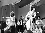 The Who 1969 Roger Daltrey, John Entwistle, Pete Townshend and Keith Moon at the Isle Of Wight Festival..© Chris Walter.