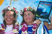 Falconer and Layne Beachley (AUS), Roxy pro, Hawaii..photo:  joliphotos.com