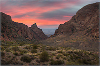 Another day, another beautiful sunset. This Big Bend National Park image comes from the trail heading towards the Window - a view to an expansive valley below. At the start of the trail is the Chisos Mountain Lodge.