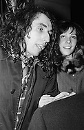 06 Dec 1969, Manhattan, New York City, New York State, USA --- Singer Tiny Tim and fiancee Vicki Budinger at demonstration outside the Waldorf Astoria Hotel in New York City. --- Image by © JP Laffont/Sygma/CORBIS