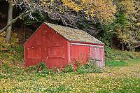Colorful farm building, Vermont, VT, USA