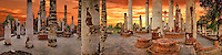 Thailand Pillars Ruins Golden Sunset CGI Backgrounds, ,Beautiful Background