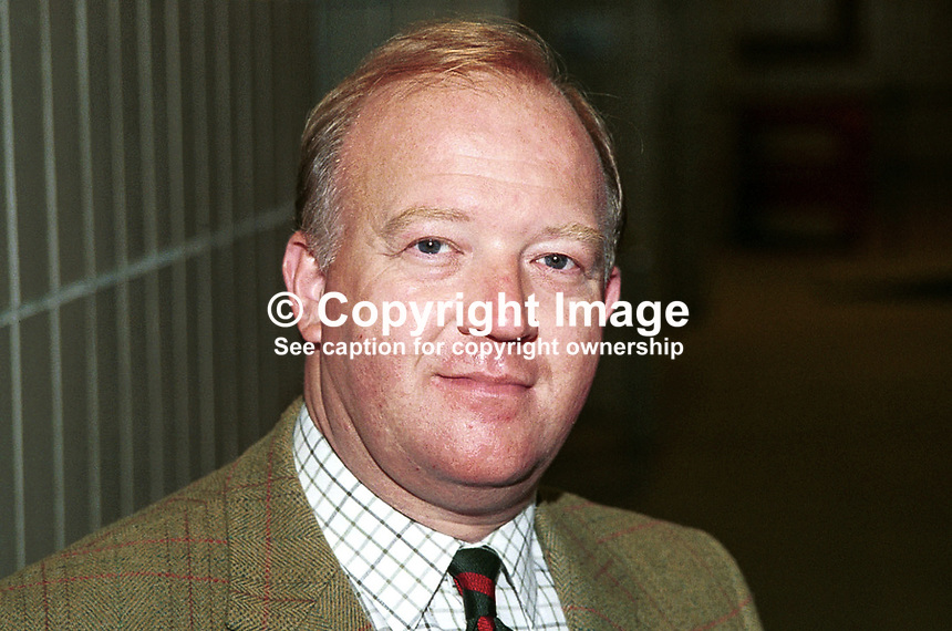 Derek Conway, Conservative MP, Britain. Photograph taken at 1996 Conservative Party Conference in Bournemouth. Ref: 199610293..Copyright Image from Victor Patterson, 54 Dorchester Park, Belfast, UK, BT9 6RJ..Tel: +44 28 9066 1296.Mob: +44 7802 353836.Voicemail +44 20 8816 7153.Skype: victorpattersonbelfast.Email: victorpatterson@mac.com.Email: victorpatterson@ireland.com (back-up)..IMPORTANT: If you wish to use this image or any other of my images please go to www.victorpatterson.com and click on the Terms & Conditions. Then contact me by email or phone with the reference number(s) of the image(s) concerned.