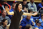 02 January 2012: Virginia head coach Joanne Boyle. The Duke University Blue Devils defeated the University of Virginia Cavaliers 77-66 at Cameron Indoor Stadium in Durham, North Carolina in an NCAA Division I Women's basketball game.