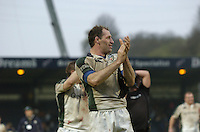 Wycombe, ENGLAND, Olivier Magne, applauds thee crowd at the end of the game, London Wasps vs London Irish  Guinness Premiership Rugby, at the, Causeway Stadium, © Peter Spurrier/Intersport-images.com,  / Mobile +44 [0] 7973 819 551 / email images@intersport-images.com.