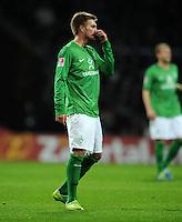 FUSSBALL   1. BUNDESLIGA   SAISON 2011/2012    16. SPIELTAG SV Werder Bremen - VfL Wolfsburg          10.12.2011 Florian Trinks (SV Werder Bremen) ist nach einer vergebenen Torchance enttaeuscht