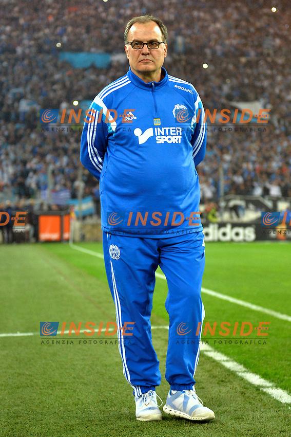 Marcelo Bielsa (om) <br /> Football Calcio 2014/2015<br /> Ligue 1 Francia Stadio VelodromeOlympique Marsiglia - Paris Saint Germain <br /> Foto Panoramic / Insidefoto <br /> ITALY ONLY