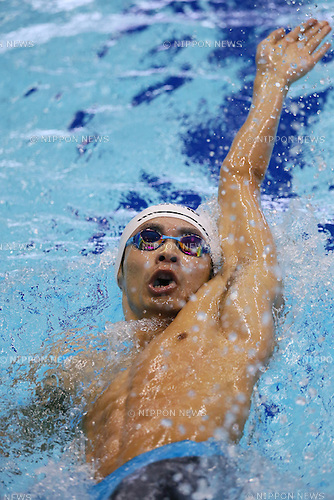 Ryosuke Irie (JPN),<br /> MAY 23, 2015 - Swimming :<br /> Japan Open 2015<br /> Men's<br /> 200m<br /> Backstroke<br /> Heat<br /> at Tatsumi International Swimming Pool in Tokyo, Japan.<br /> (Photo by Yohei Osada/AFLO SPORT) [1156]