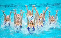 Picture by Alex Whitehead/SWpix.com - 31/07/2015 - Synchronised Swimming - 16th FINA World Swimming Championships 2015 - Kazan Arena Stadium, Kazan, Russia - Russia win the Team Free Final.